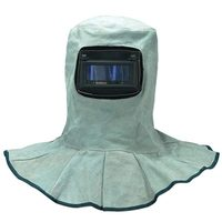 Cow Split Leather Welding Hood for Safety
