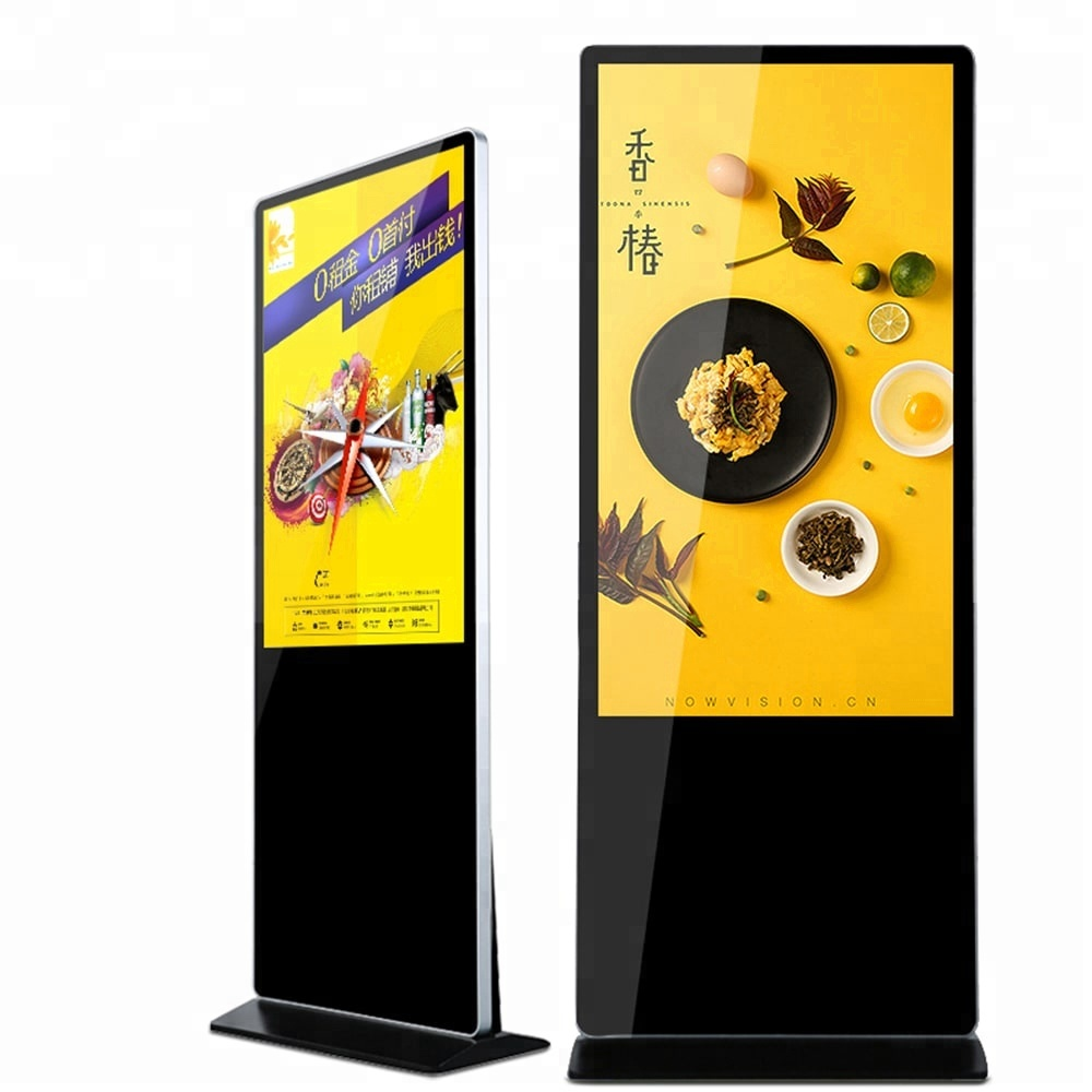 43inch floor standing display <strong>advertising</strong> with video lcd monitor usb media player for <strong>advertising</strong>