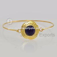 Wholesale Vermeil Bezel Setting Gold Plated bracelets, 925 Silver Jewelry