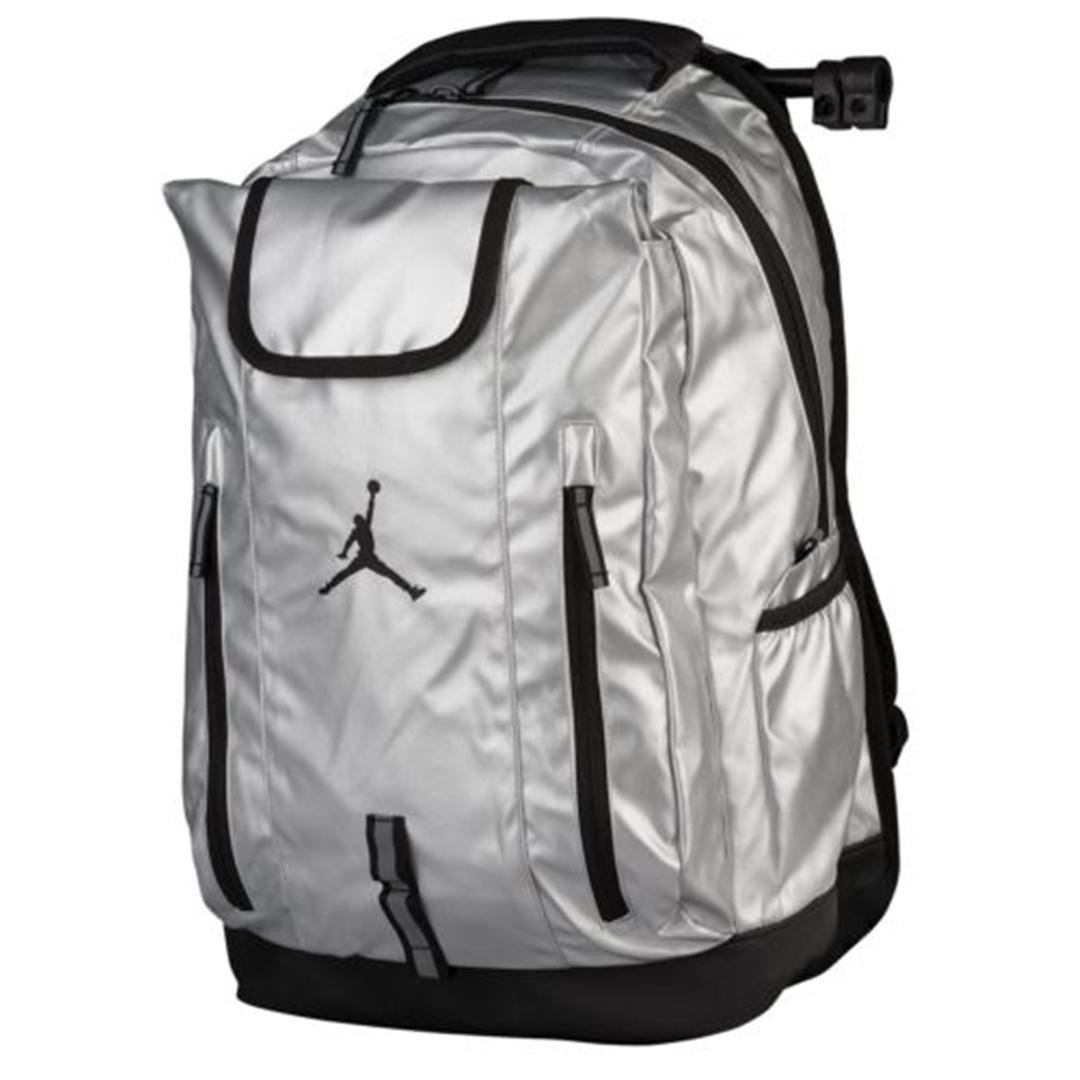 f68ee281d2 Get Quotations · Nike Jumpman Jordan Metal Silver Black Sports Equipment  Laptop Backpack