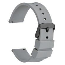 Ремешок для часов WOCCI 14 мм, 18 мм, 20 мм, 22 мм, 24 мм, силиконовый ремешок для спортивных часов для мужчин и женщин, Реплика для мужчин, Т-образный р...(China)