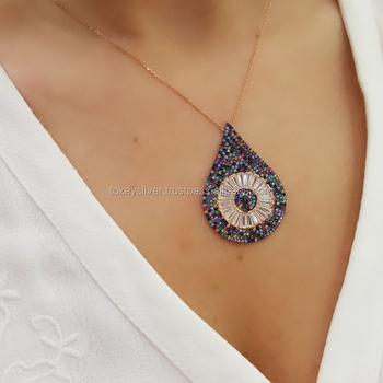 Enamel evil eye silver pendant turkish wholesale 925 sterling silver enamel evil eye silver pendant turkish wholesale 925 sterling silver jewelry aloadofball Gallery