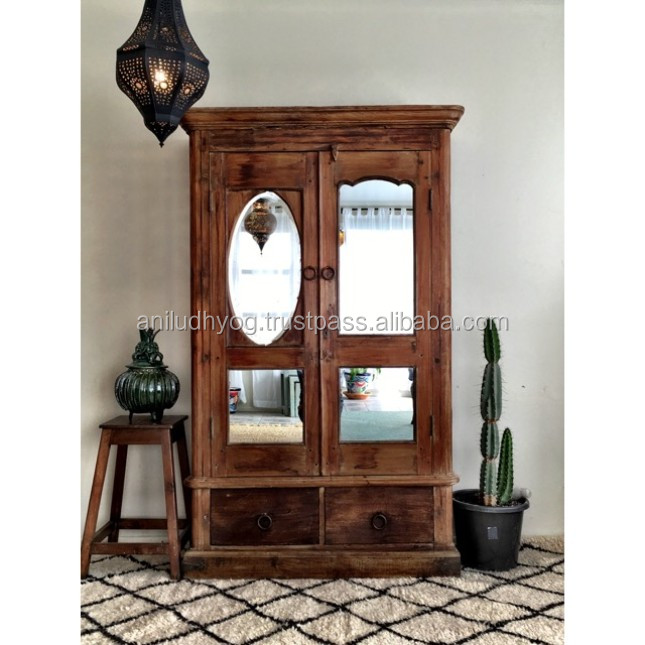 Antique Reproduction Wood Glass Door Mirror Cabinet Recycle Wood Wardrobe Buy Antique Reproduction Wood Glass Door Mirror Cabinet Recycle Wood Wardrobe Old Antique Bedroom Cabinet With Mirrors Made From Teak Product On Alibaba Com