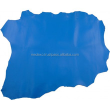 Blue Aniline Nappa Sheepskin Genuine Leather Furniture's Upholstery