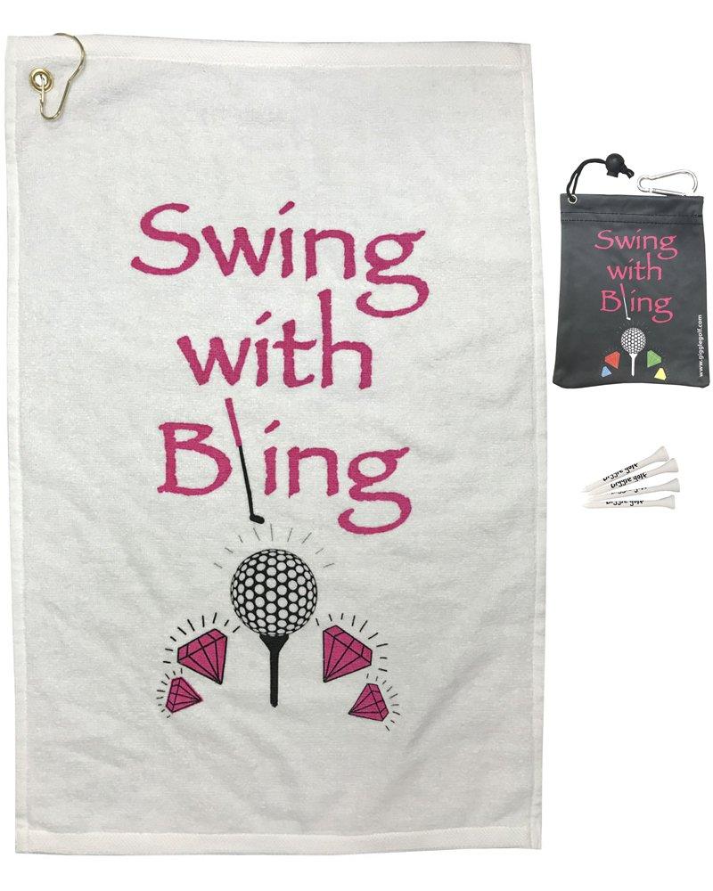 Giggle Golf Swing with Bling Towel & Tee Bag Combo