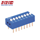 2.54mm 8 positions (SPST) gold-pin DIP switch