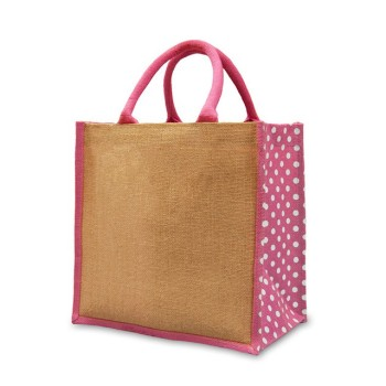Eco-friendly Reusable Bag Women grocery shopping tote bag with handles  large Jute Burlap bag d34b57e44