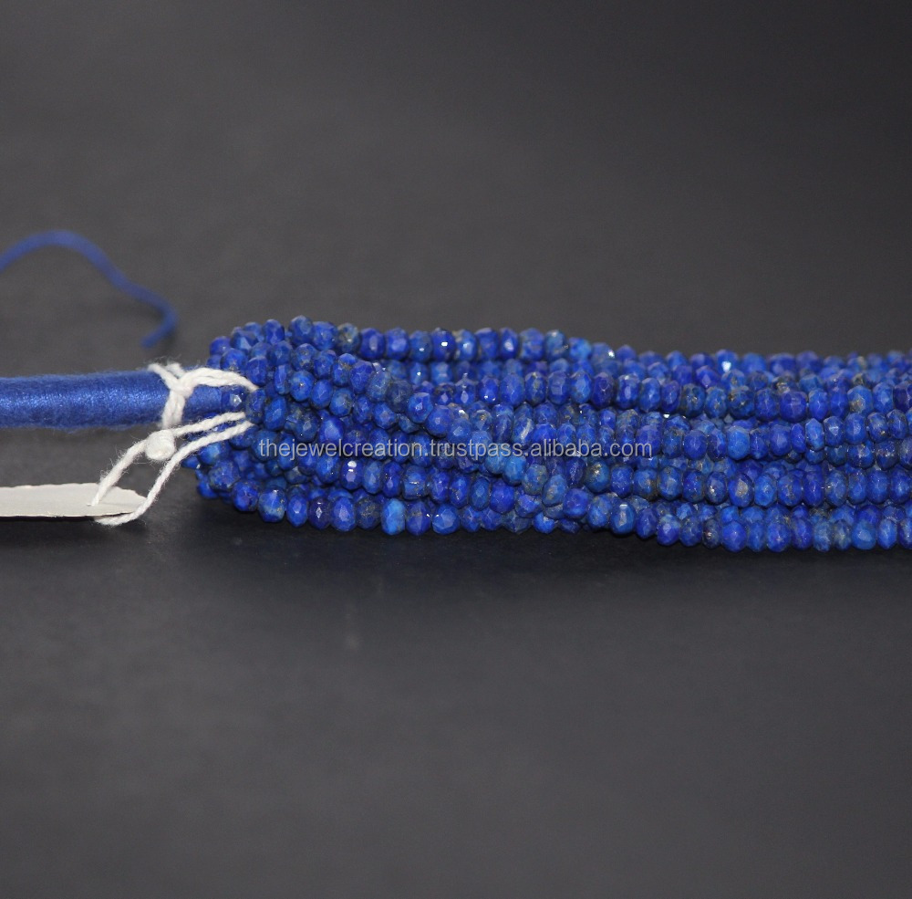Natural AAA Lapis Lazuli Beads Faceted Rondelle