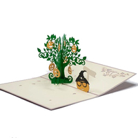 Halloween Tree pop up card wholesales pop up greeting cards