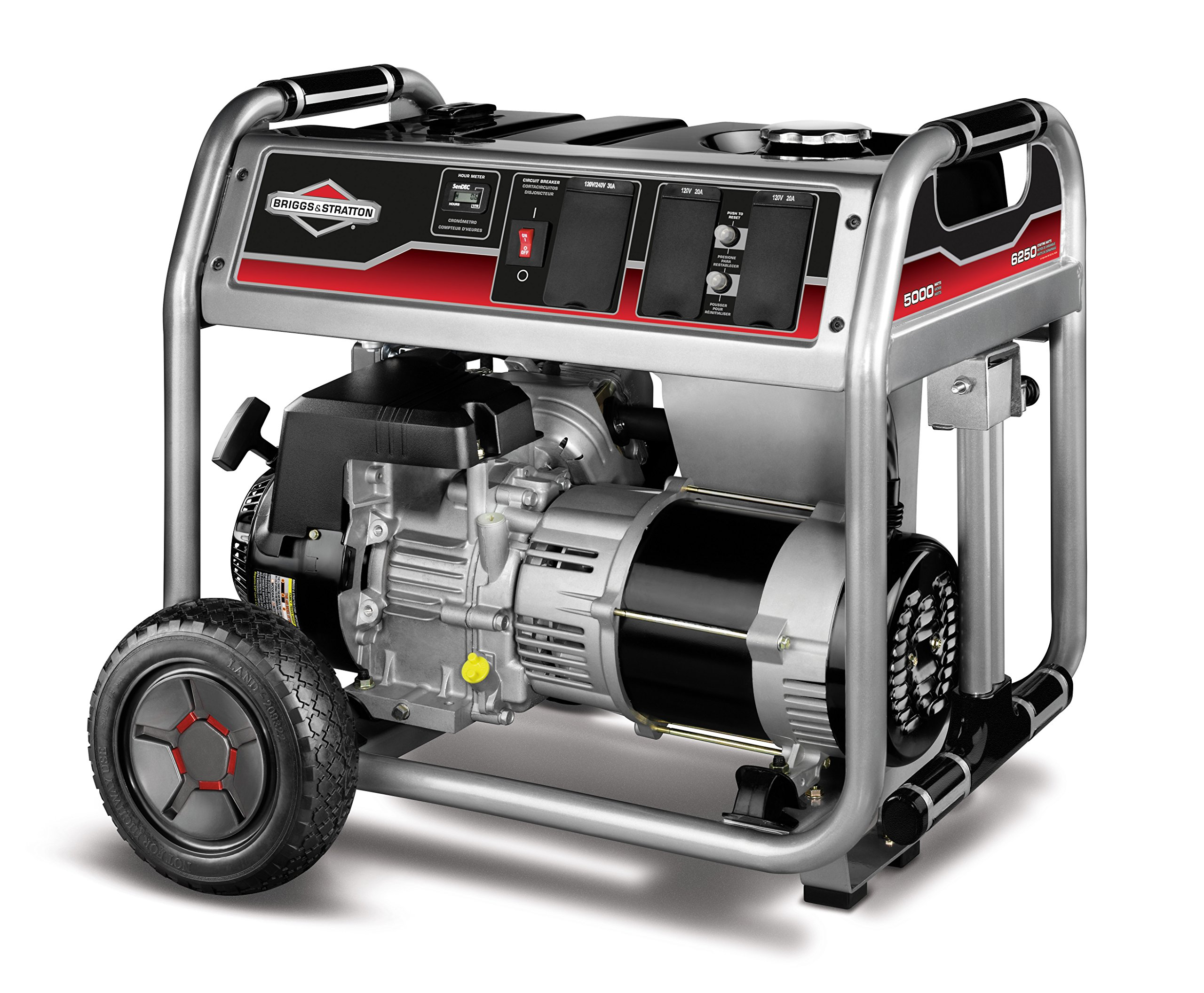 Get Quotations · Briggs & Stratton 30622, 5000 Running Watts/6250 Starting  Watts Gas Powered Portable Generator