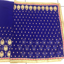 Fancy Embroidery work with ston's work saree
