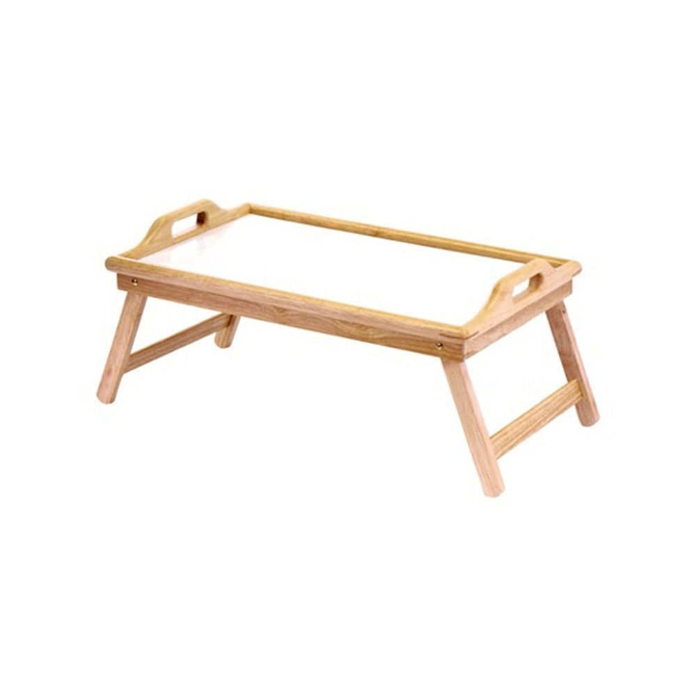 Skroutz Portable Bamboo Laptop Desk Table Folding Breakfast Bed Serving Tray With Handles