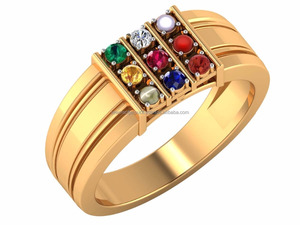 Eternity Colourful Band Ring Design Navratan Trendy Ring For Daily Wear