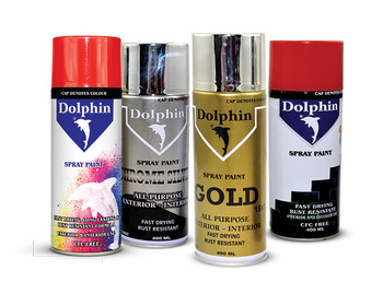 Dolphin spray paint water resistant 400 ml buy spray for Acrylic paint water resistant