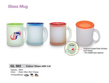Customized High Quality Silkscreen Gl Mug With Lid Image Colour Personalized Coffee