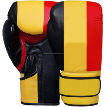 germany flag printed leather boxing gloves