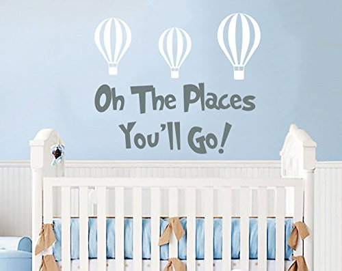 Dr Seuss Oh The Places You/'ll Go Wall Decal Vinyl Sticker Decor Quote Nursery