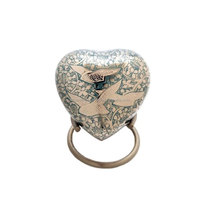 Dove Going Home Heart Keepsake Brass Cremation Urns
