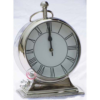b96860285 Nickel Plated Clock