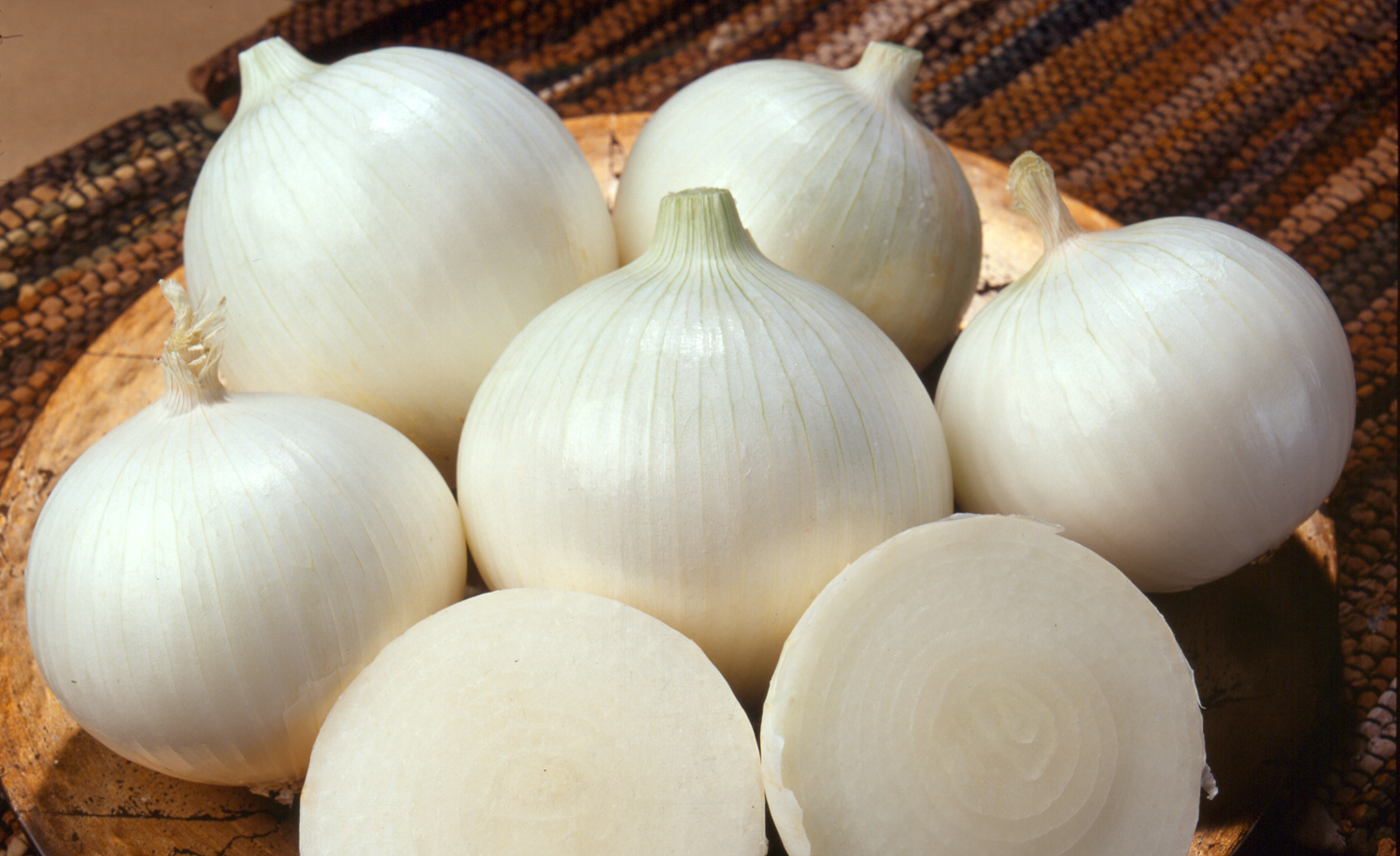 Fresh whole peeled onion