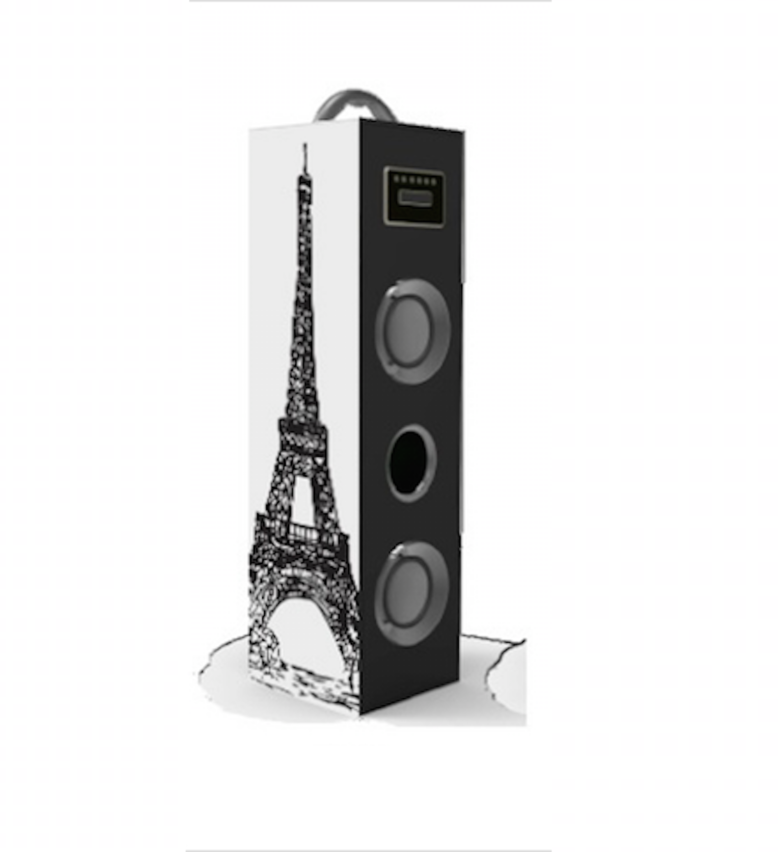 CT-8238 MP3 Pemutaran USB SD Slot Kartu MDF Kayu Speaker 5 W X 2 Portable Sound Kotak Kayu Tower Speaker
