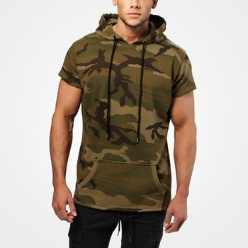 2019 new  military update  hoodie for young men short sleeve