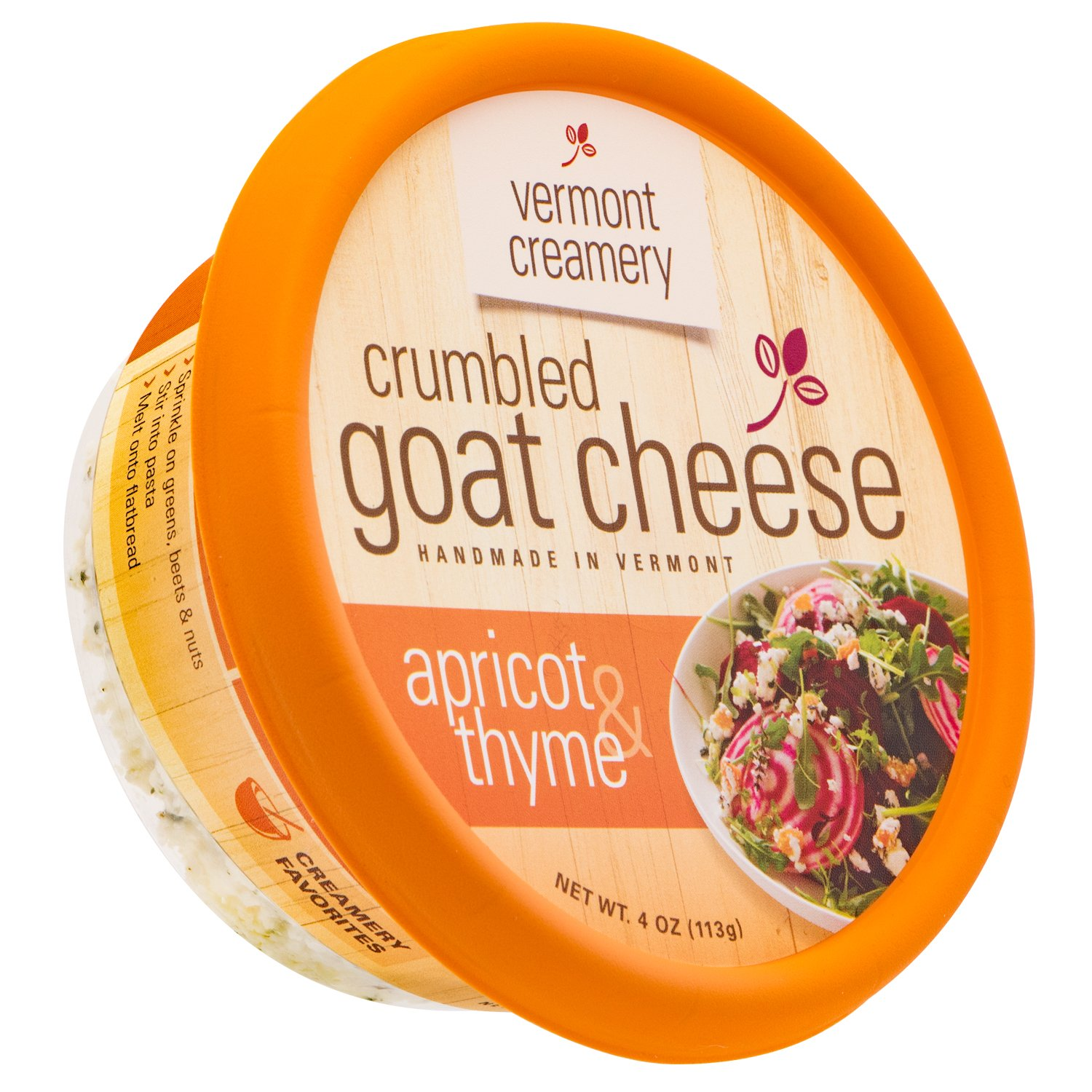 Vermont Creamery Crumbled Goat Cheese with Apricot and Thyme, 4 oz