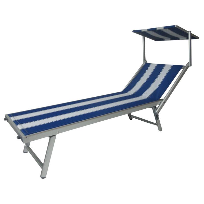 Aluminum Outdoor Furniture Folding Beach Lounge Chair Sun