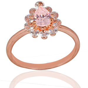 Fashion Trendy For Women Open Simple Finger Rose Gold Plated Ring