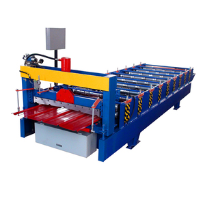 Hebei xn 900 metal color steel aluminum tile cold making trapezoid roof sheet roll forming machine