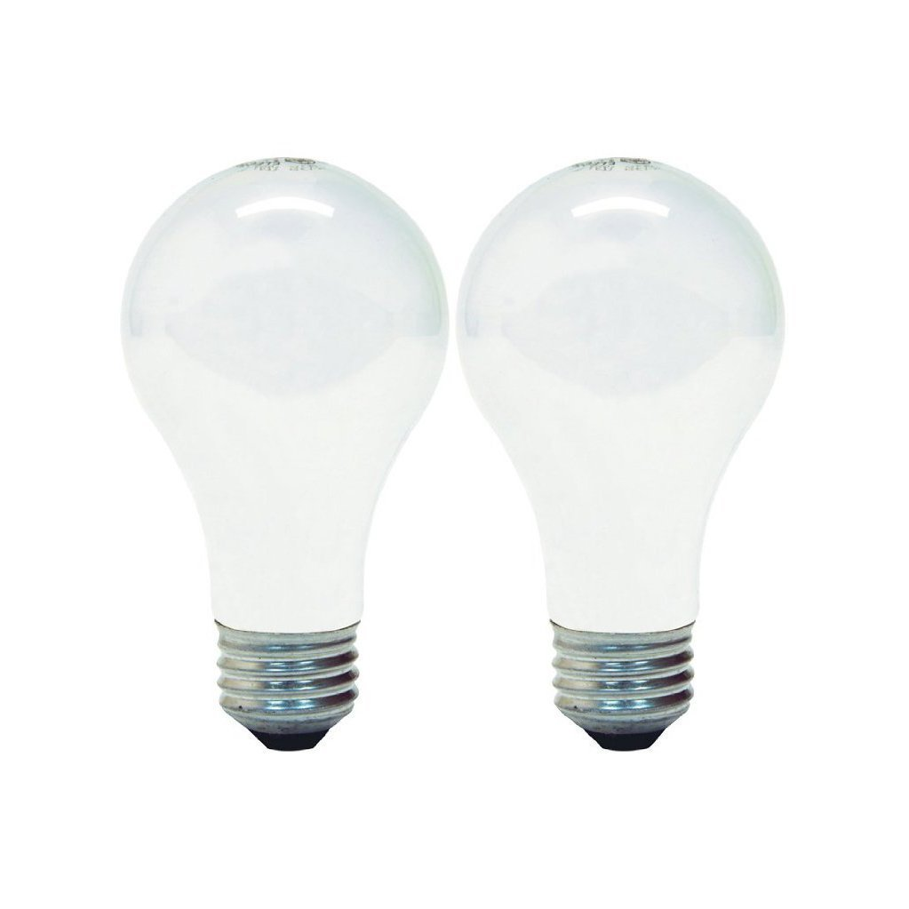 GE Lighting 63003 Soft White 43-Watt (60-watt replacement) 620-Lumen A19 Light Bulb with Medium Base, 2-Pack