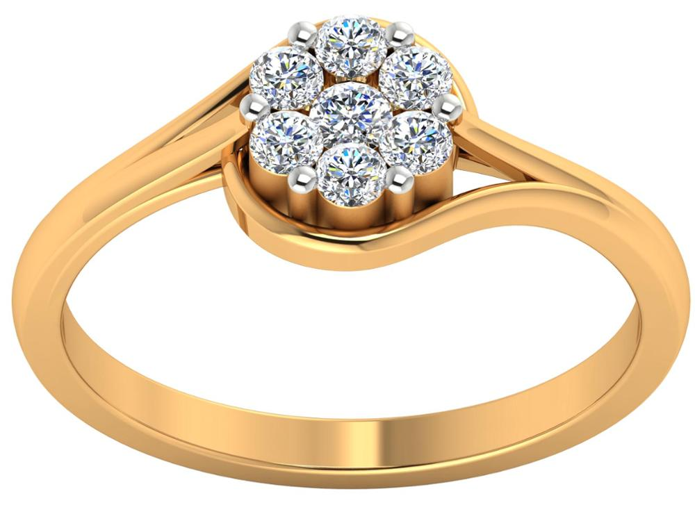 Nature Enement Rings | Promise Ring Poems Enement Love Diamond Ring 14k Yellow Gold Natural