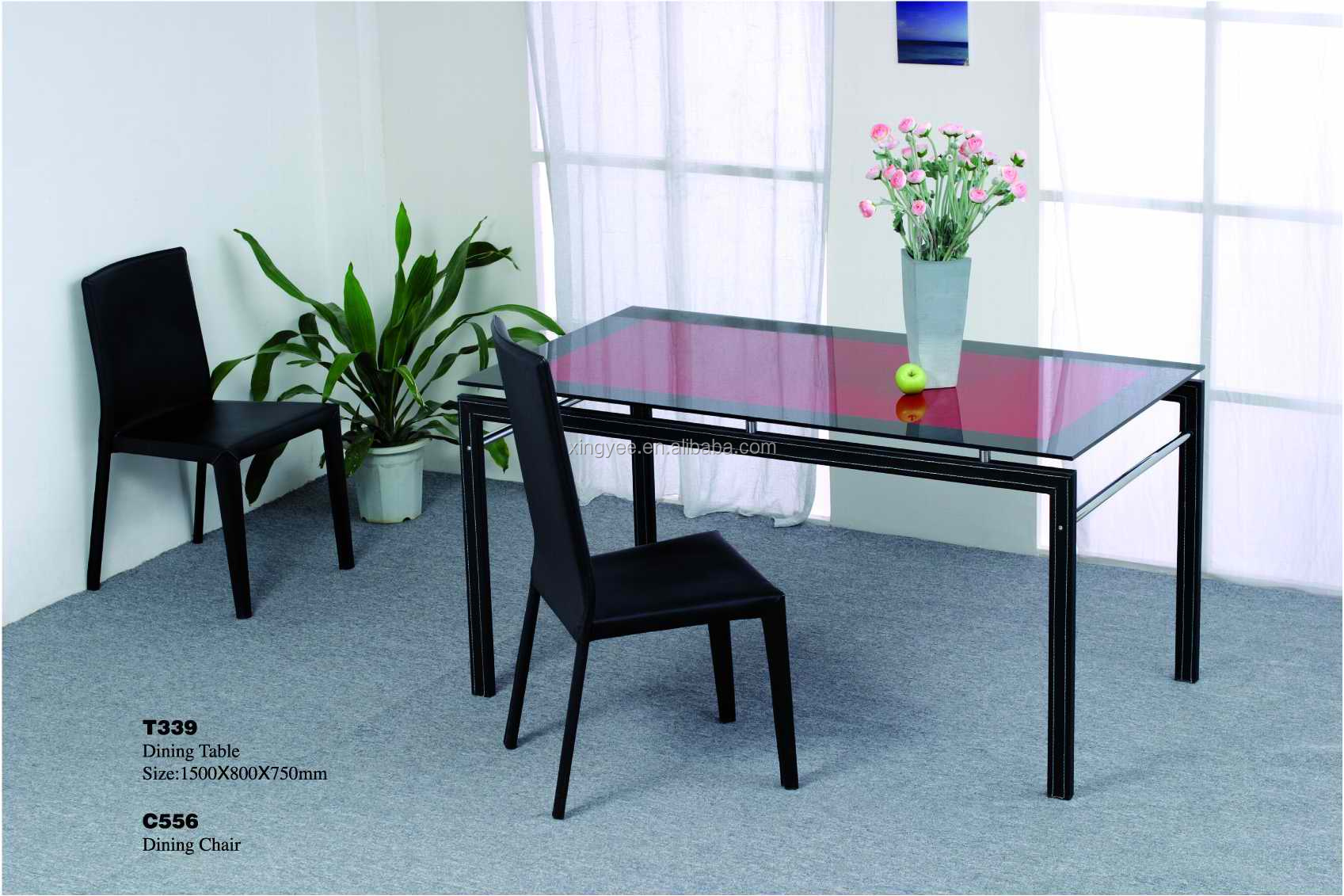 Modern furniture 8 seater glass dining table homes design round dining table set