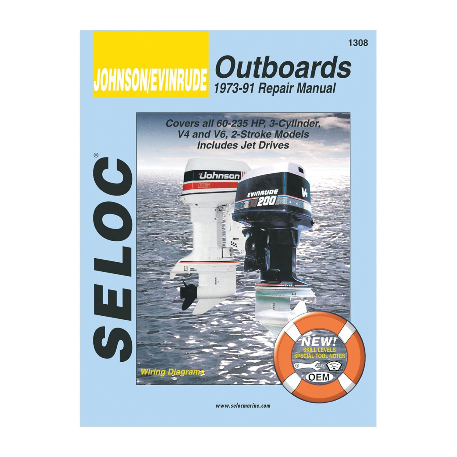 Get Quotations · Johnson Evinrude Outboard Repair Manual, 3 cylinder, V4, &  V6, from 1973