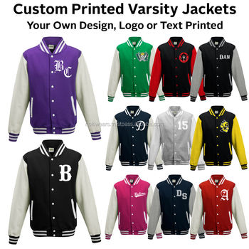 Beautifully Designed Custom Varsity Jackets With Chenille Patches, Logo  Embroidered, With Different Team Name
