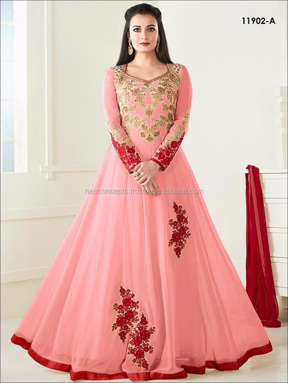 Bollywood Anarkali Indio Vestido/ladies Invierno Traje Salwar Kameez ...