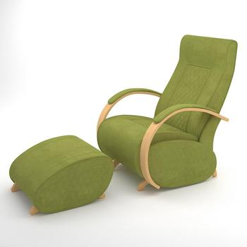 Glider Armchair with footrest G3&P3 (Apple Green)