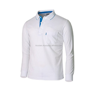 Men's Casual Stylish Long Sleeve Classic Fit Polo Shirt