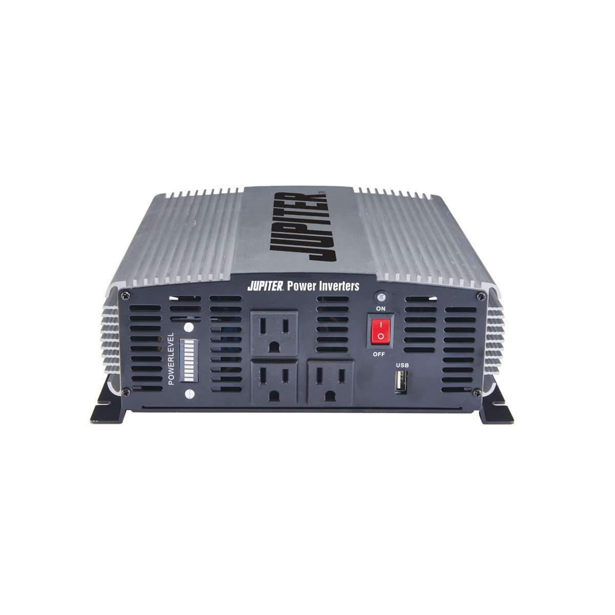 Jupiter Power Inverter 2000w (4000w Peak) converts vehicle 12v DC to House 120v power 3-120v AC outlets 1-2.1AMP USB plus protection from hi/lo voltage, high currents, high temp & short circuit