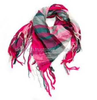 100% light weight cotton scarf