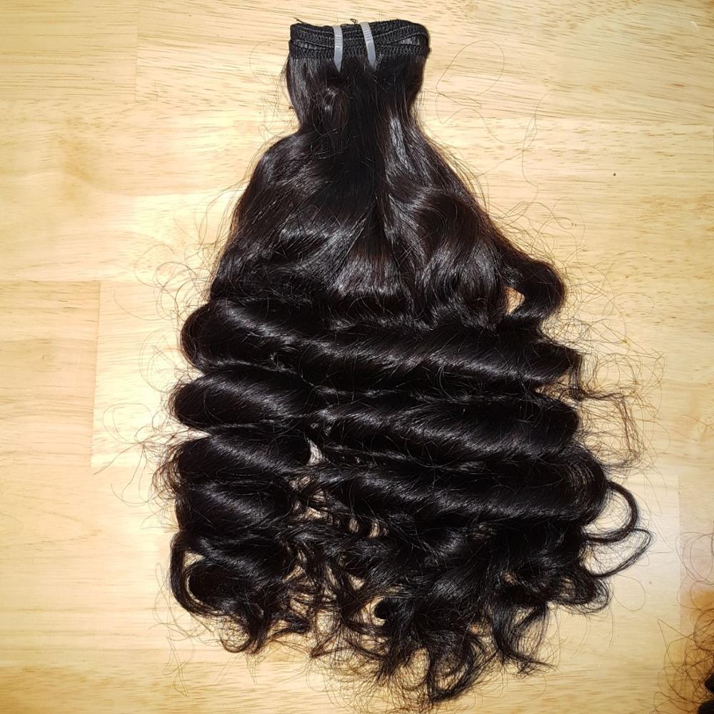 Half Wig Clip In Hair Extensions Grey Hair Human Blonde Fancy Hair