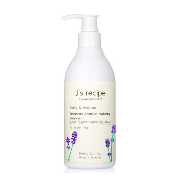 J's recipe Blackberry Absolute Hydrating Body wash 300 ml