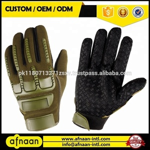 Anti-skid Armor Protection Shell Full Finger Tactical Gloves