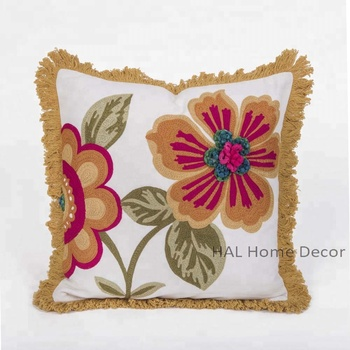 hand embroidered custom wholesale sofa pillow case christmas decorative pillow cover indian suzani cushion pillow