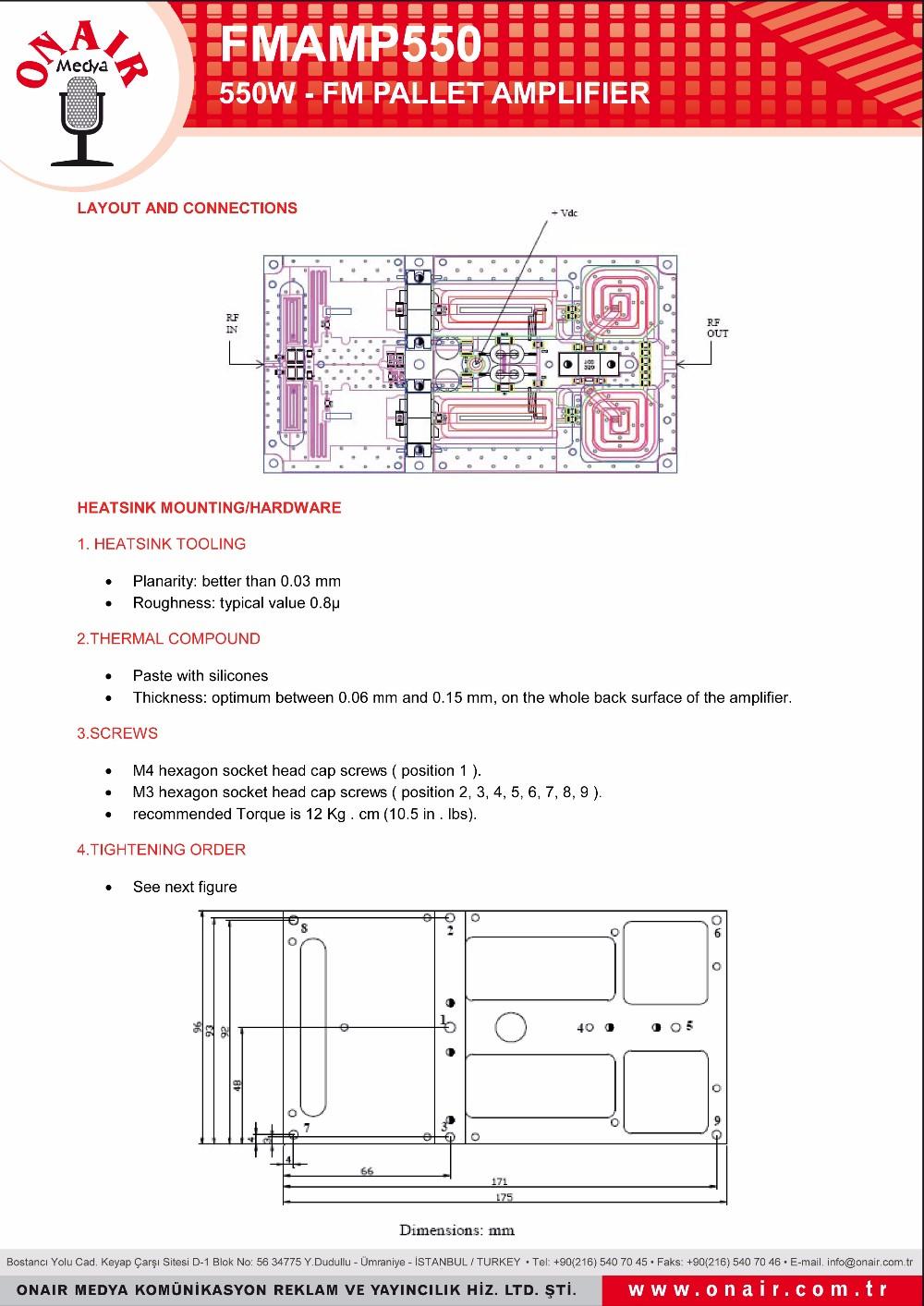 Fm pallet amplifier buy 550w rf pallet amplifierfm pallet datasheet ccuart Images
