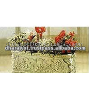 White Sandstone Home Table Decor Flower Planter And Pots