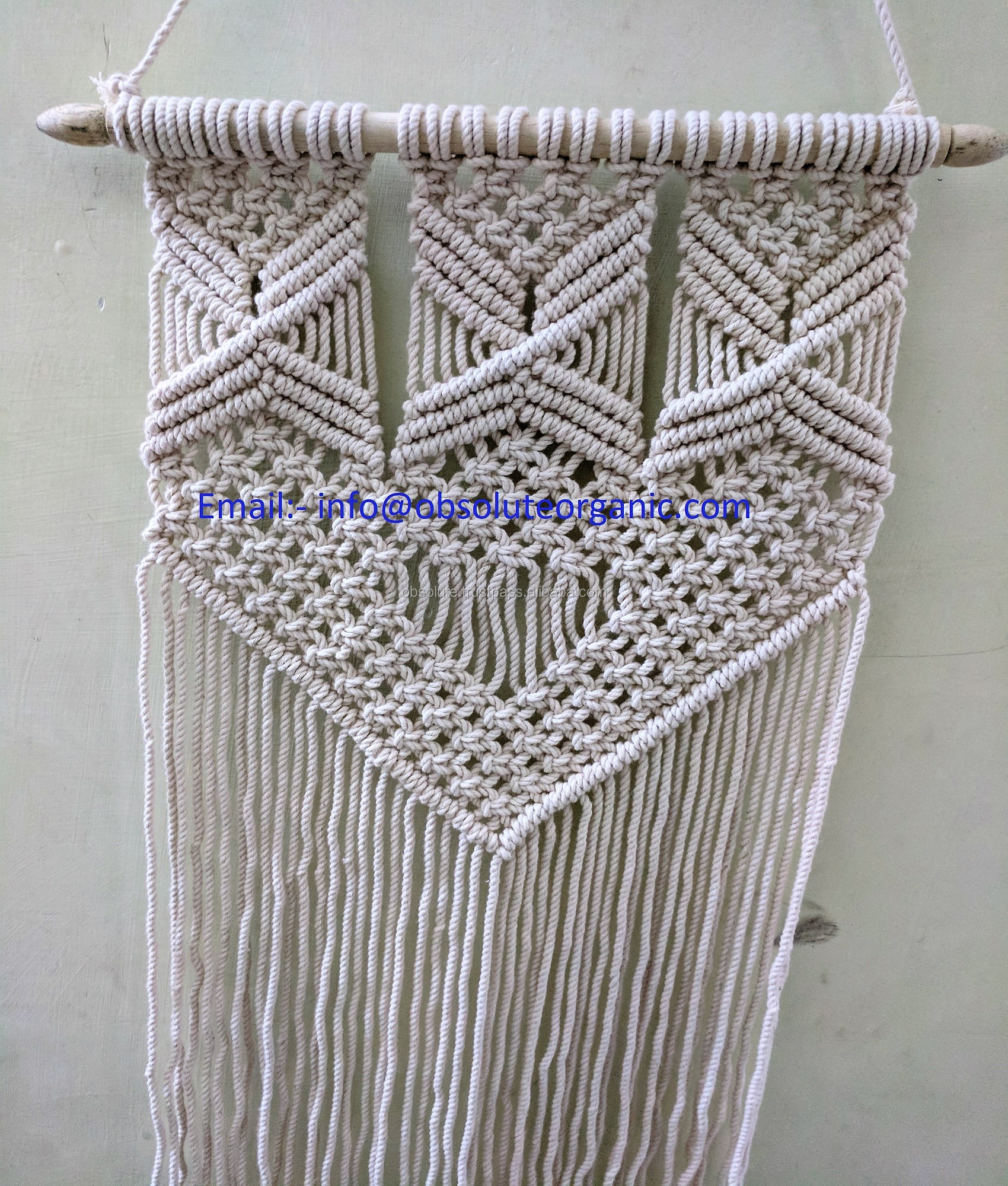 Macrame Twisted Cotton Rope cord