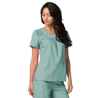 Women's Scoop Neck Smocked ladi sexy doctor uniform