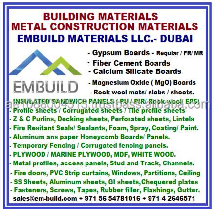 United Arab Emirates Construction Building Materials, United