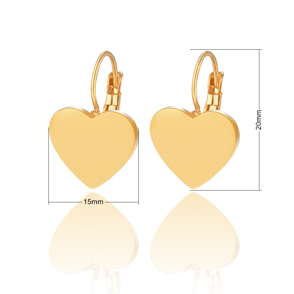 Woman 14k Gold Small Statement Stud Stainless Steel Wholesale Hoop Earring